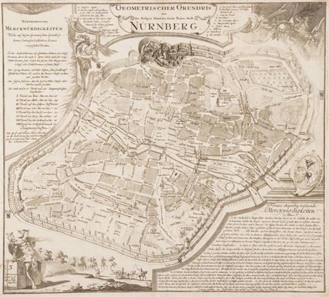 Matthäus Seutter (wohl), Geometrischer Grundris der des Heiligen Römischen...
